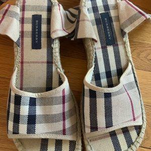 Burberry tie up sandals